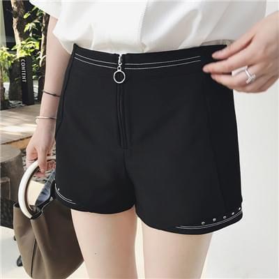 高腰西装短裤